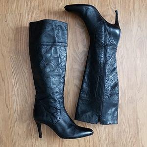 Coach Shoes - COACH Millie Black Leather high Boots 7.5 M